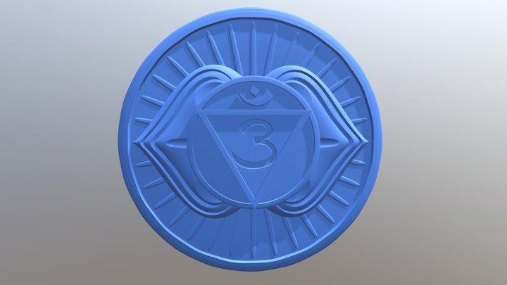 Third Eye chakra or Ajna 3D Model