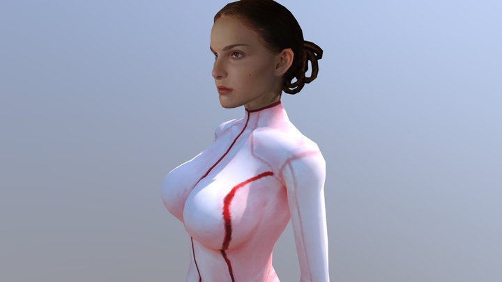 Padme Amidala |Girl| With New Outfit 3D Model