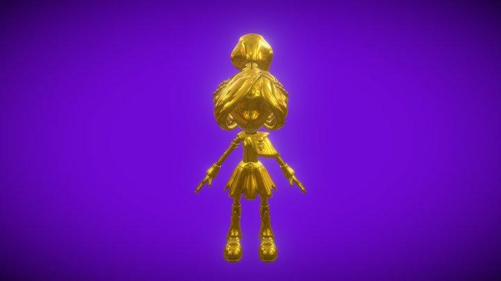 Golden Pandora 3D Model