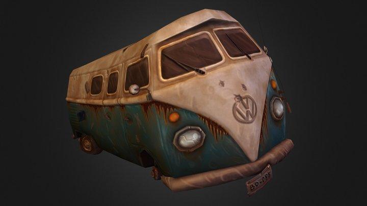 Wrecked Kombi 3D Model