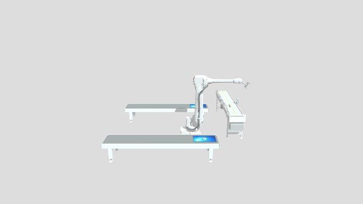 Simulación 9 con RobotStudio ABB, Pantallas. 3D Model