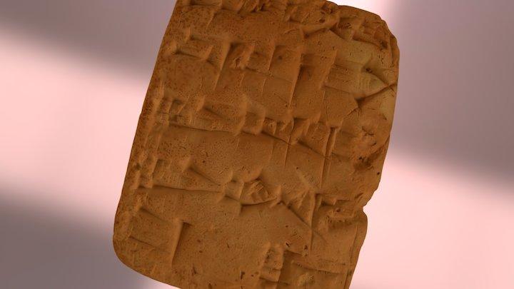 Cuneiform Tablet 3D Model