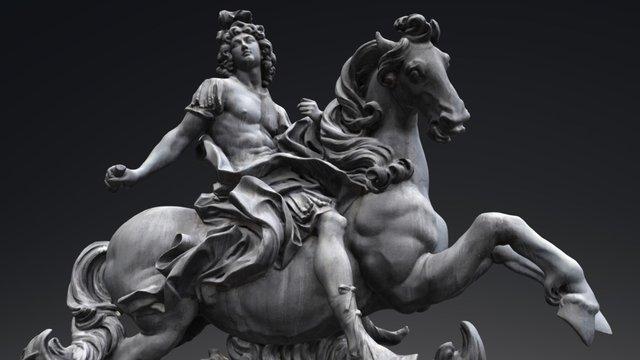 Louis XIV de France, Louvre, Paris 3D Model