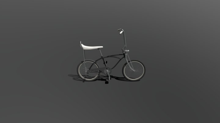 Retro 80s Schwinn Bike Stranger Things 3D Model