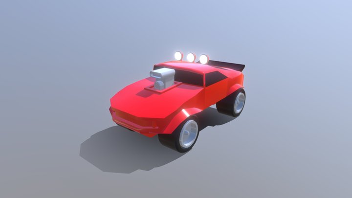 Racing Truck - Rock N Roll Racing 3D Model