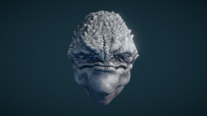 Creature Sketch 3D Model