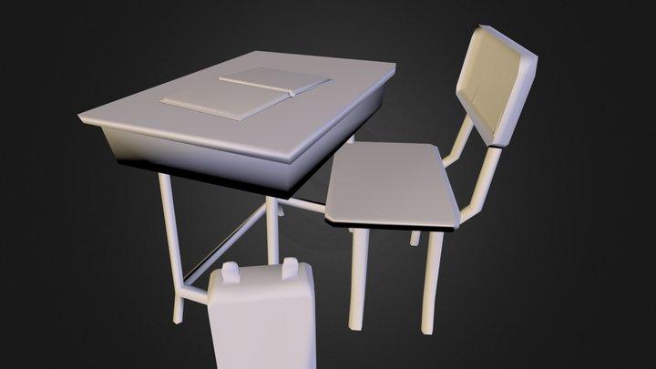 MesaDirFrenteBakedLow 3D Model