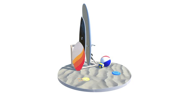 Beach Sports Pack (real-time) 3D Model