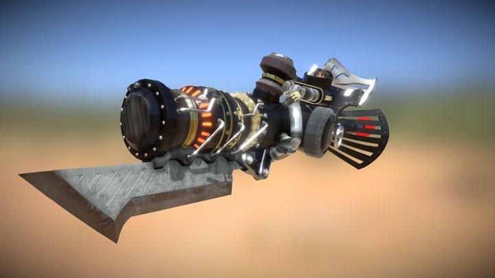 MHW Mods - Choo Choo Train Gunlance Lance 3D Model