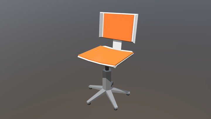 Low Poly: Office Chair 3D Model