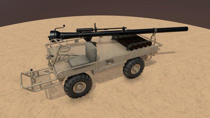 Utility Platform Truck 3D Model