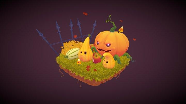 Spooky Pumpkin Squash 3D Model
