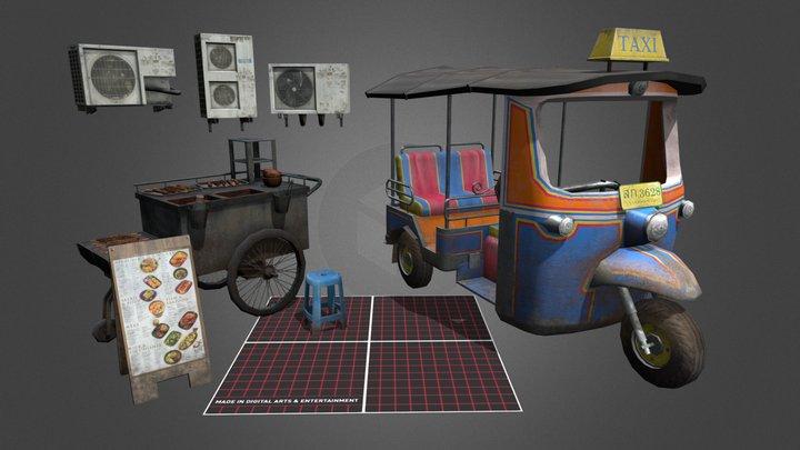 Obeid Mathis LowPoly Props 3D Model