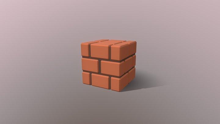 Mario Brick Block 3D Model