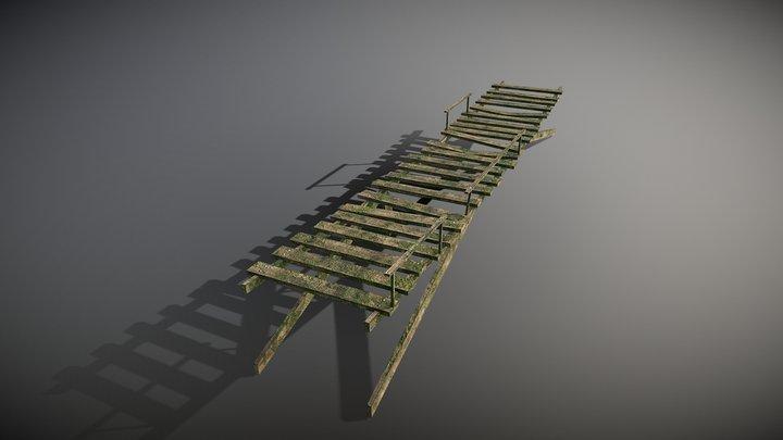Footbridge Junglestyle 3D Model