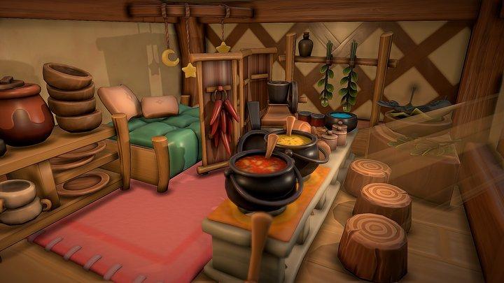 Zelda: Link's Awakening - Animal Village Kitchen 3D Model