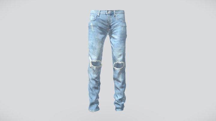 Purple Brand Jeans Light Indigo Blowout 3D Model