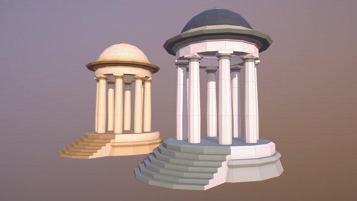 Arbour Rotunda ( Low Poly ) 3D Model