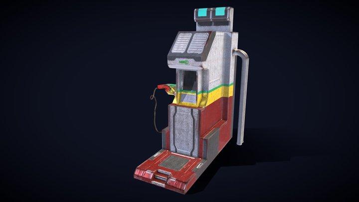 Electric Car Charging kiosk 3D Model