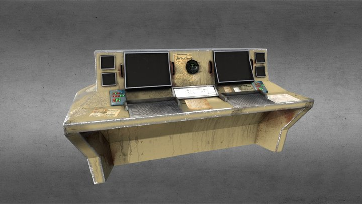Electronic panel 3D Model