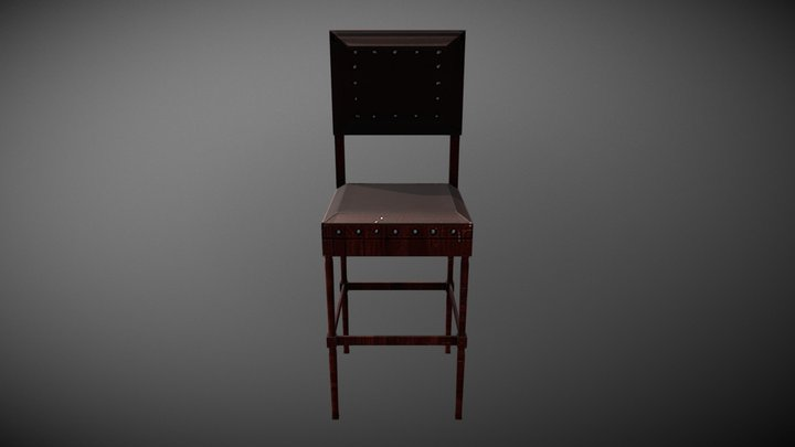 Small Chair Low Poly 3D Model