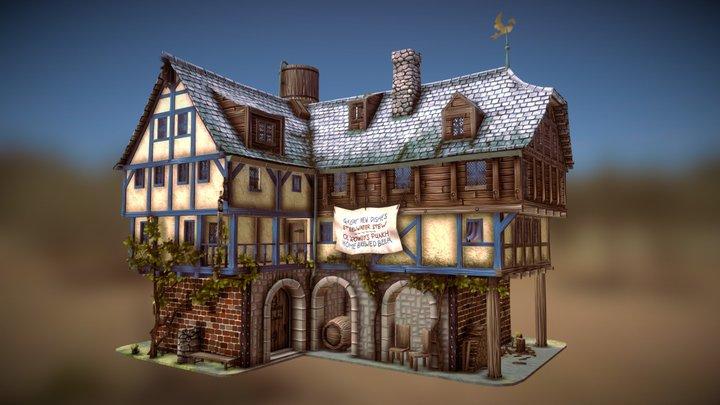 Ol' Rowdys Inn 3D Model