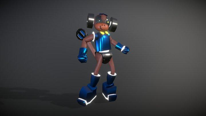 Qwerty_Robotic Monkey 3D Model