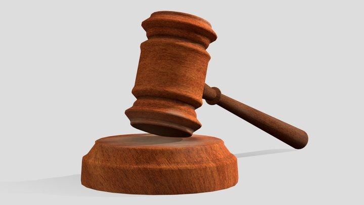 Gavel - Judge Hammer 3D Model