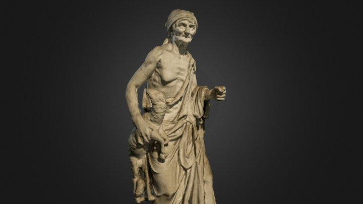 Statua di contadina 3D Model