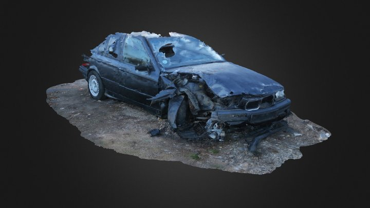 Car accident 3D Model