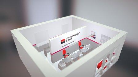 Русфинанс Банк. Город Котлас. 3D Model