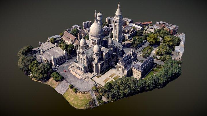Sacre coeur (Sacré-Cœur) Paris, France 3D Model