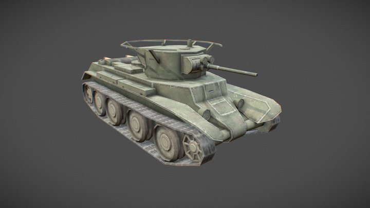 BT-7 Toon Tank 3D Model