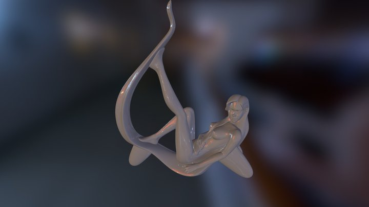 Pose-3- Low 4 3D Print Test- Free To Use Tatami 3D Model