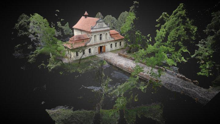 Kościół na wodzie / Church, Zwierzyniec, Poland 3D Model