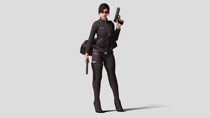 Assistant - Leather Heist Outfit 3D Model