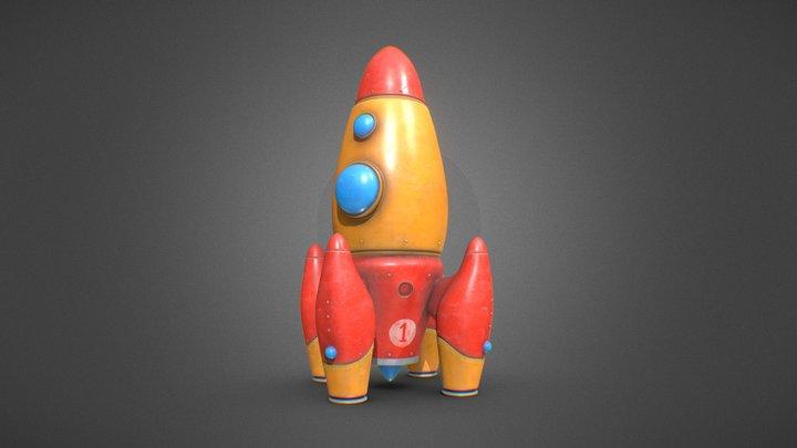 Vintage rocket toy 3D Model
