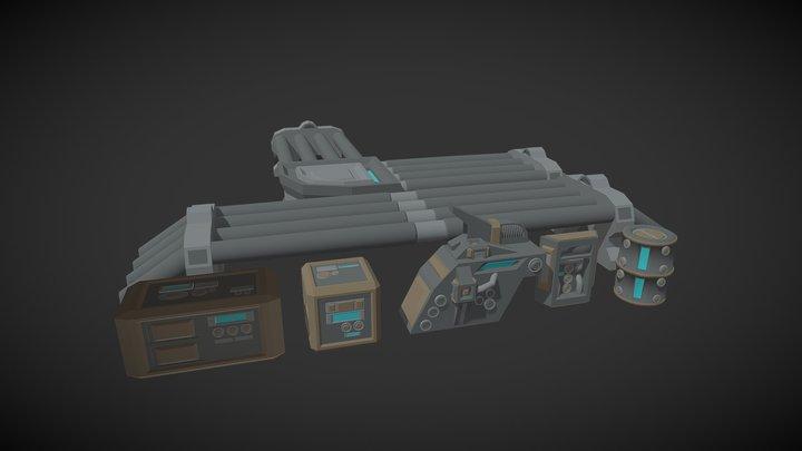 Scifi Asset Pack 3D Model