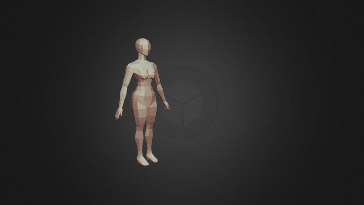 Human Body Base Mesh (female) 3D Model