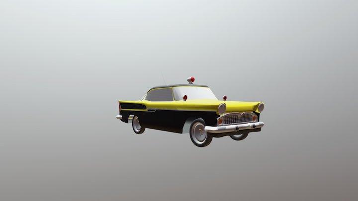 Simca Chambord Vigilante Rodoviario 3D Model