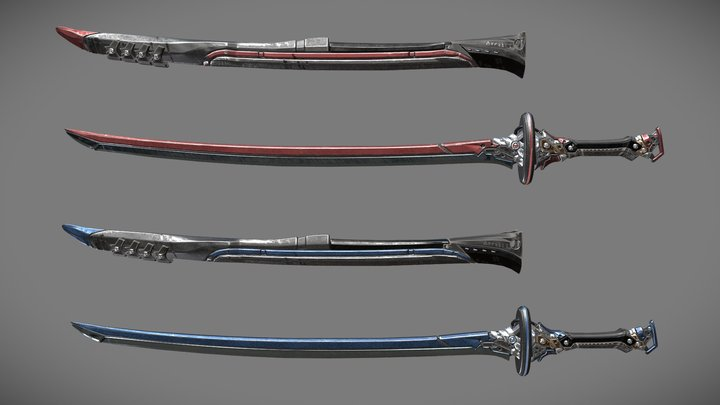 Two Colors Epee - Remake 3D Model