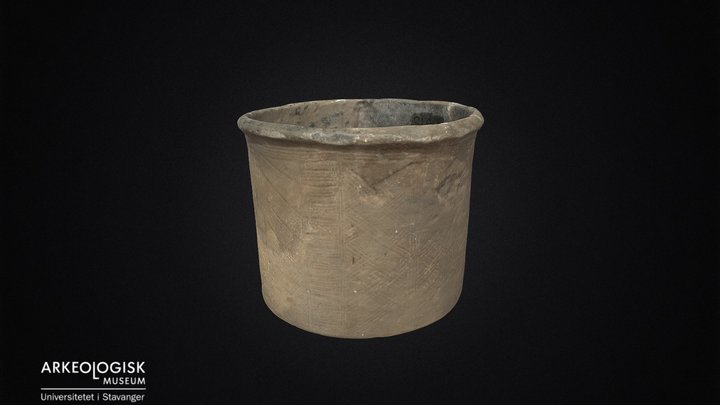 Clay pottery from the migration period. 3D Model