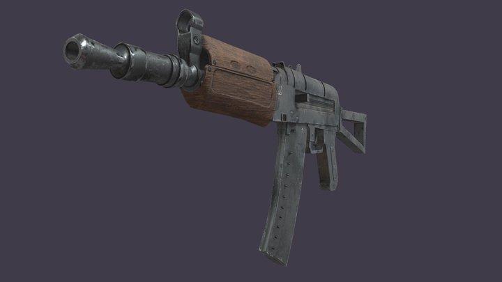AK-47u - Game Ready 3D Model