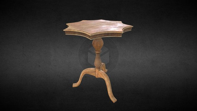 Aged wooden table 3D Model