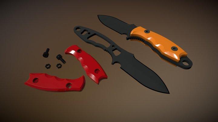 Drop Point Knife 3D Model