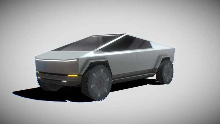 Tesla CyberTruck 256Poly v2 3D Model
