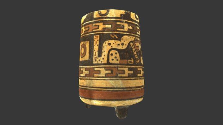 Mayan Tripod Vessel 3D Model