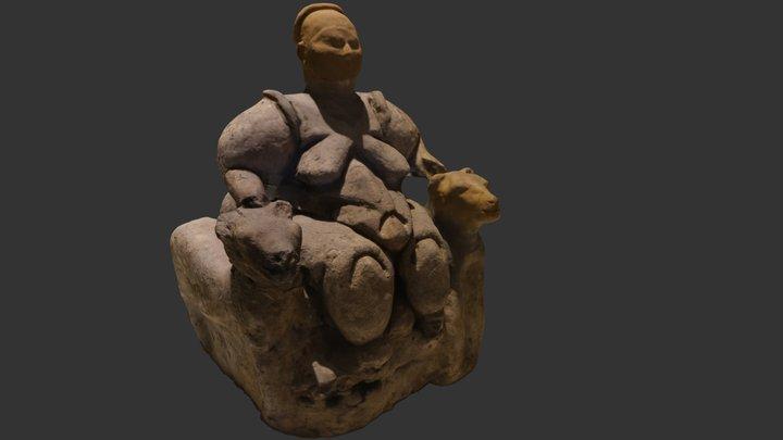 Statuetta Dea della fertilità - Museo di Ankara 3D Model