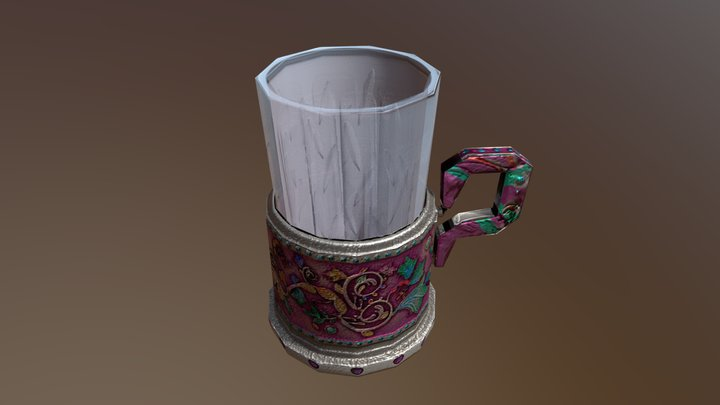 One REALLY Ugly Pink Cup But With Metalness 3D Model