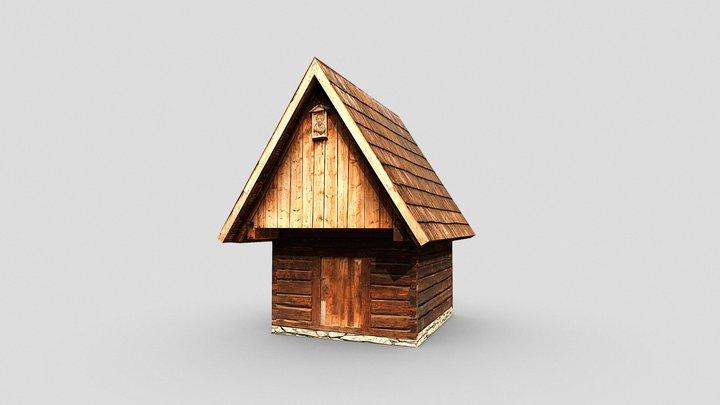 Wooden granary, drewniany spichlerz 3D Model